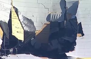 美国:F-16战机冲入仓库坠毁,致数人受伤,飞行员弹射逃生