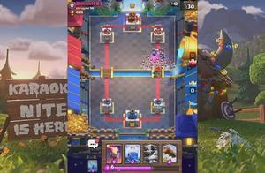 皇室战争28:超级骑士配合大电直接摧毁一座塔
