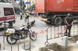 痛心!深圳一垃圾运输车撞倒电单车!骑车女子当场身亡