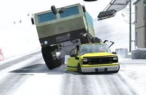 BeamNG:测试汽车经历各种极端车祸碰撞后,发动机和底盘的性能