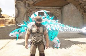 方舟生存进化 盖亚神秘学院02 驯服冰系甲龙,发现狮身蝎尾兽