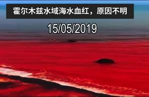 霍尔木兹海峡海水异变,一夜染红,原因不明