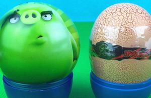 托马斯小火车分享恐龙蛋 愤怒的小鸟奇趣蛋