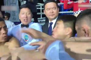 中外硬汉赛前酿冲突,拜山波被惹毛重拳暴揍打的对方扔白毛巾!