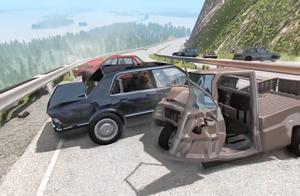 BeamNG:汽车高速行驶突然失控会有哪些奇葩车祸,实例还原