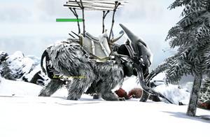方舟生存进化:普罗米修斯21 雪山M416大战巨象Boos 这伤害太吓人