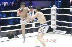 韩国拳王被一拳打睡摇晃站起来拼命,中国名将飞身追击暴打韩冠军