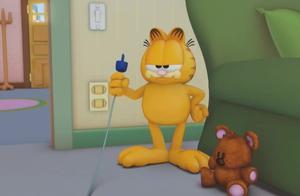 加菲猫:主人乔恩太勤快,给加菲猫洗了床单,还被加菲猫埋怨!