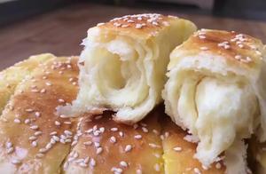 自己在家做的手撕面包,掰开真是太诱人了,松软香甜