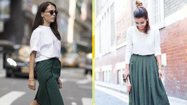 下面是裙摆款式的墨绿色风衣搭配着小黑裤那么搭配什么款式什么颜色的鞋子好呢