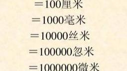 100毫米等于多少米