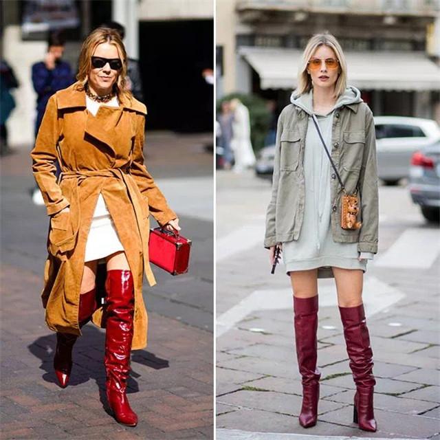 """""""短靴""""不吃香了,今年秋季时髦女人都在穿""""堆堆靴"""",超显腿长"""