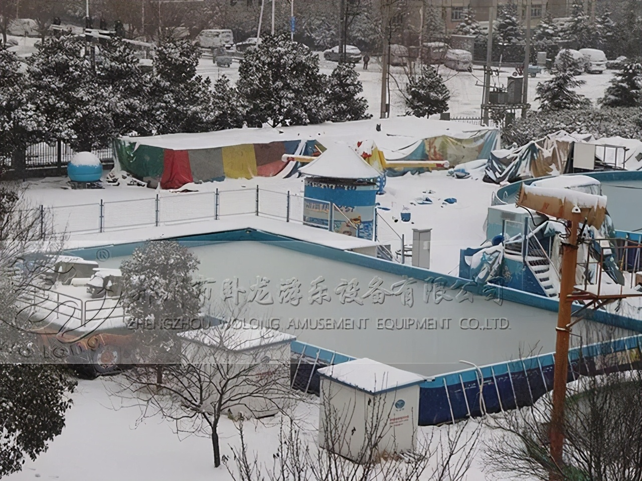移动水上乐园支架水池冬季也有用武之地