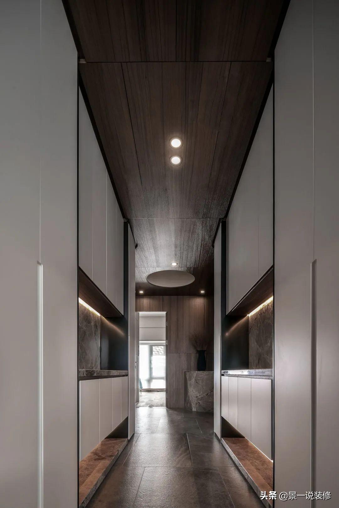 深圳180㎡大宅,每平方装修费一万,石材与木作工业风,够高级