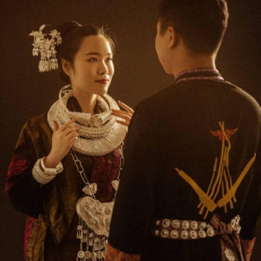 國慶期間京城演繹了一場苗族文化盛宴 苗族姑娘的苗族婚禮
