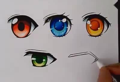 动漫人物的眼睛和手怎么画