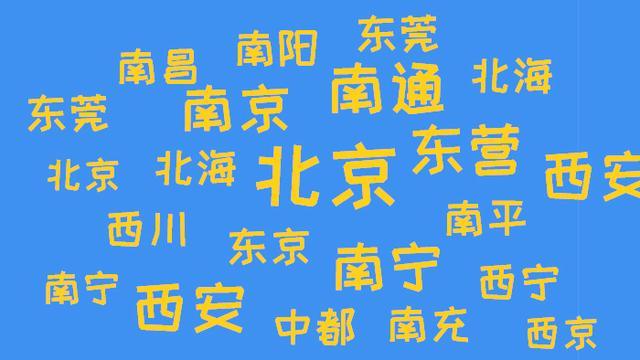 中国什么地名包含了东南西北四个方向