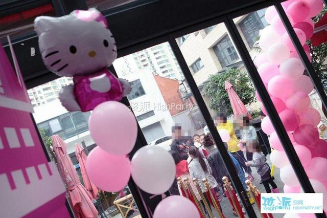 Hello Kitty粉色派对,乘坐摩天轮许下生日愿望