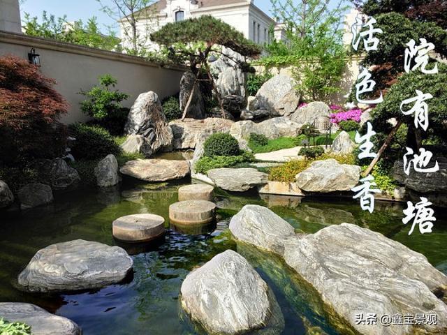 怎样制作庭院鱼池石桥?