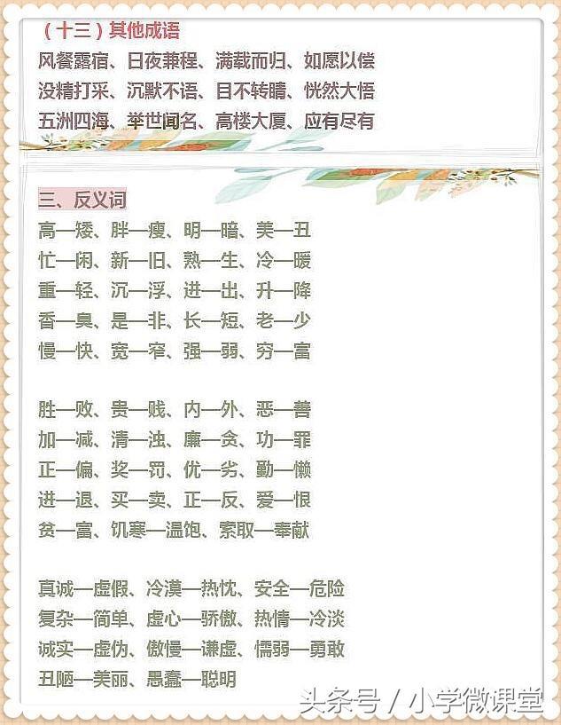 《中中小型学生语文课》专业知识归纳:句子、古古诗词、俗话、文学类基础常识,个人收藏