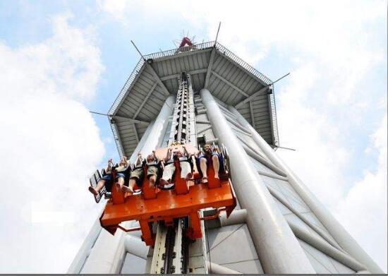 世界上最高的跳楼机就在中国,但是敢玩的没几个