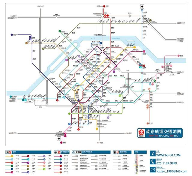 南京规划8条地铁:8号、12号、13号、14号、15号、S2号、S4号、S5