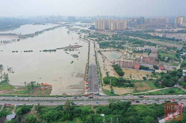 航拍直击   刚刚,金堂历史第二大洪峰过境