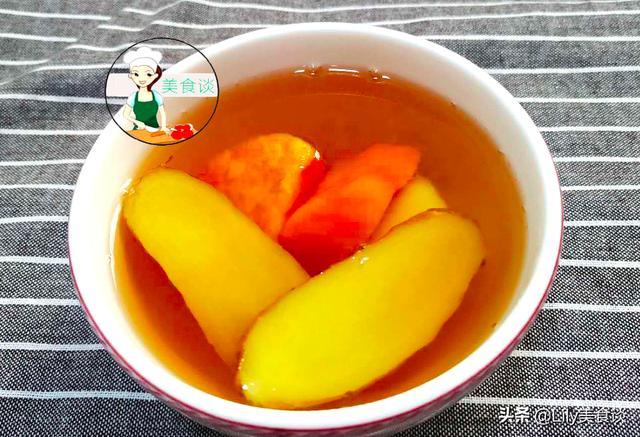 地瓜糖水的做法,掌握好一个技巧,汤色清亮不浑浊,比买的还好喝