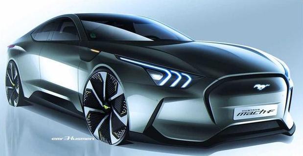 造型超前,未来感十足的福特野马Mach F提上日程,EV跑车不是梦