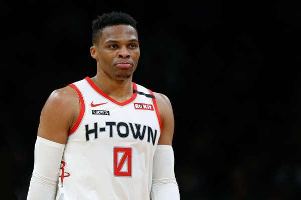 NBA速递:哈登再砍45+17+9,威少伤势不乐观,字母哥被禁赛