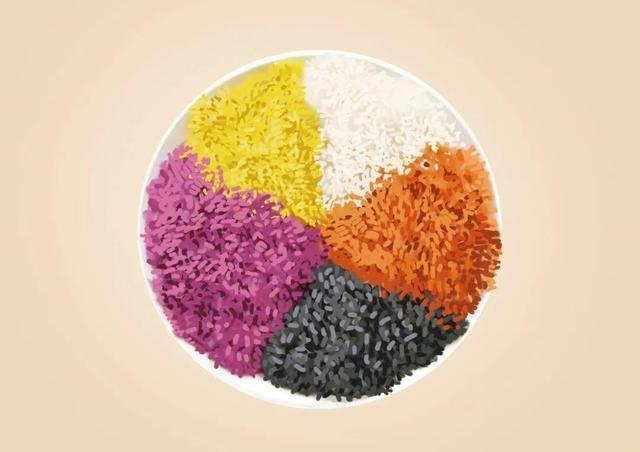 五颜六色的糯米饭是用什么做的
