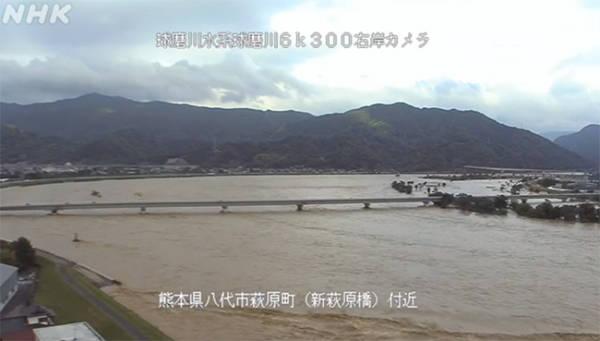 日本熊本县发生大规模洪灾,至少9人失踪