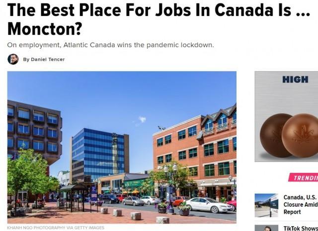 新冠疫情下,加拿大哪个城市最好找工作?