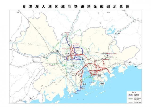 粤港澳大湾区城际铁路获批,深圳的5条有3条2022前启动建设