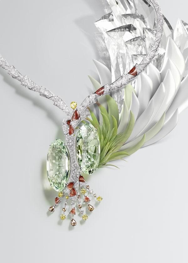 采擷云朵、葉片和羽毛,譜寫這首高級珠寶的自然詩篇