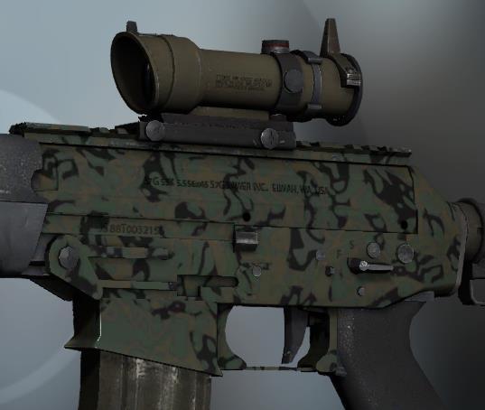 CSGO皮肤推荐——SG 553军队之辉