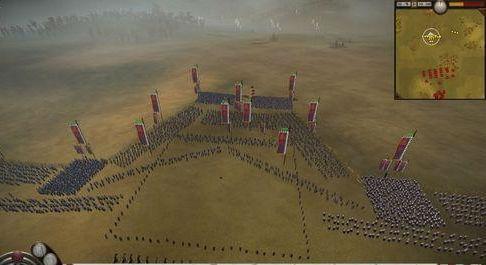 古代战场上的排兵布阵