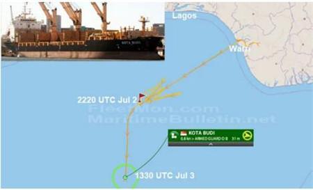 5名中国船员在西非海域被海盗劫持