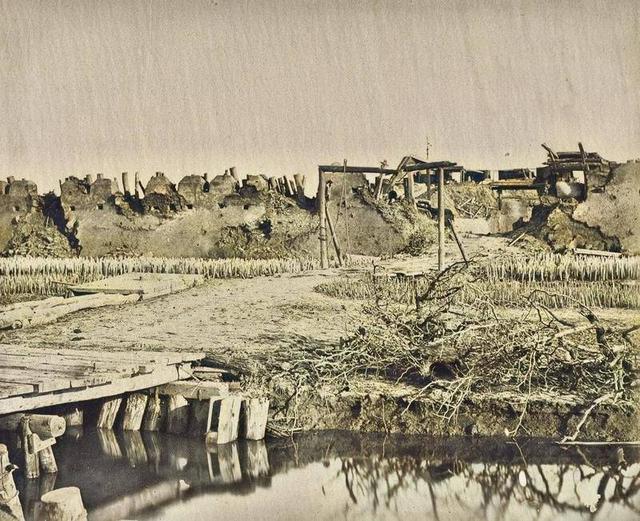 大沽口之战照片:炮台内部惨不忍睹,清军提督战死