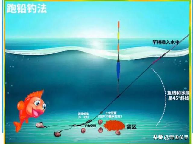 钓青鱼怎么绑跑铅