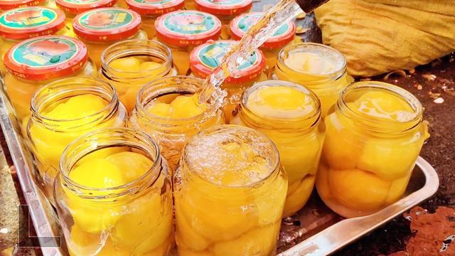 自制黄桃罐头的做法_黄桃罐头怎么做视频