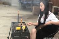 娄艺潇:吃东西差点把裙子蹦开了!网友:还是那个野蛮的胡一菲啊!
