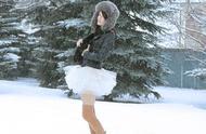 街拍冬季要美不要命的女生们,为了美太拼了!