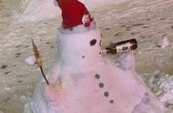 这才是东北的雪人:只要雪到位,啥姿势都会,网友分享的雪人照