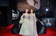 <沉睡魔咒2>伦敦首映礼,朱莉大气优雅的女王,范宁灵动俏皮的公主