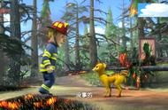 感人一幕,消防员救下小鹿,大火已经封住出口!