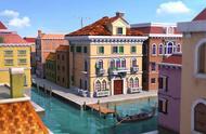 乐迪来到威尼斯,整个城就就像被淹了,人们出门只能靠船只!
