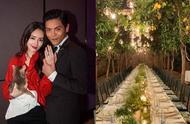 向佐郭碧婷婚礼疑曝光,柠檬树下聚会超浪漫,萧敬腾也去了