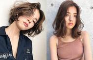 干练与女人味结合的气质发型:空气感中短发就是日本女生的大爱