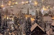 瑞士雪夜!梦幻!